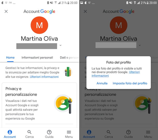 Account Google Android