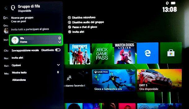 Creare un gruppo party su Xbox