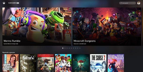 Cloud Gaming Beta PC Xbox Game Pass Browser