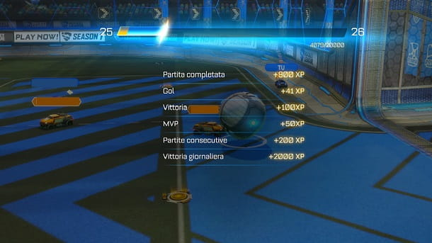Riassunto finale partita Rocket League