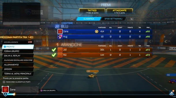 MVP vinto Rocket League