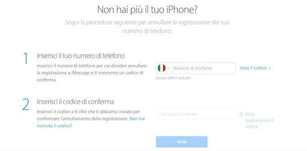 Disattivare FaceTime e iMessage senza iPhone
