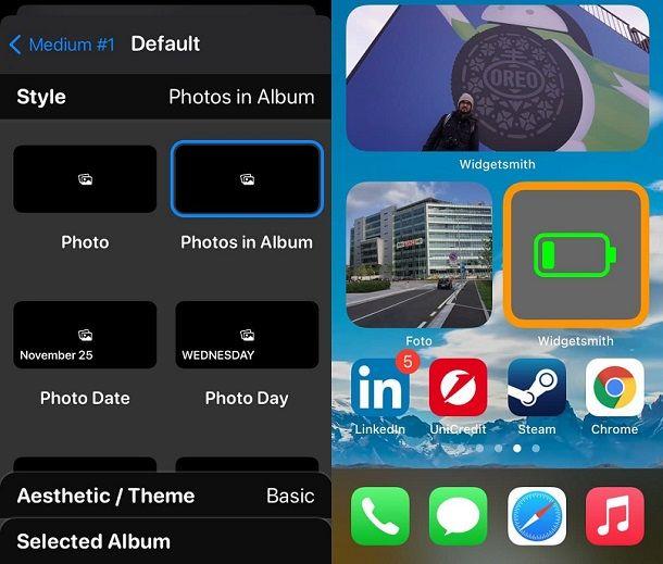 Come creare widget iOS con foto