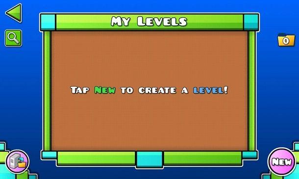 Creare nuovo livello Geometry Dash