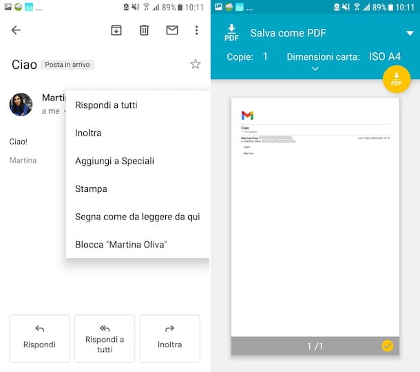 Gmail PDF Android