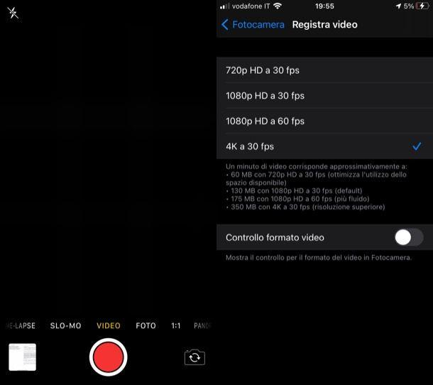 Registrare video iPhone