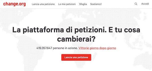 Come fare una petizione su Change.org