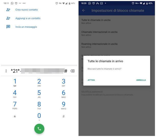 Come disattivare le chiamate su Android
