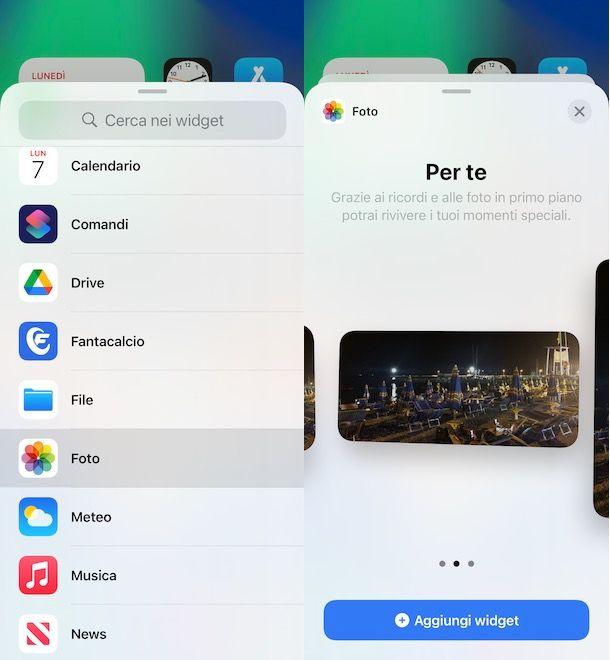 Come mettere widget su iPhone con foto