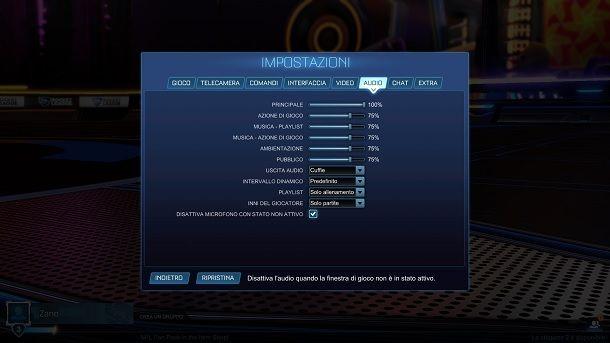 Come attivare la chat vocale su Rocket League PC