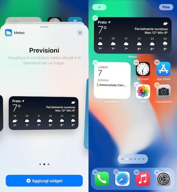 Come mettere widget meteo su iPhone