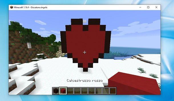 Cuore rosso Minecraft