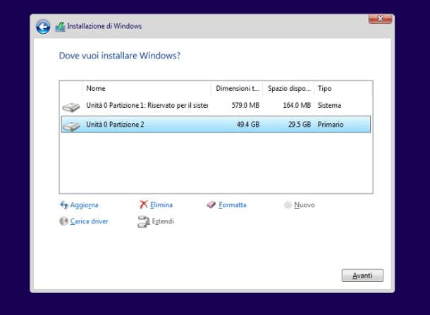 Come passare da Windows 8 a Windows 10 formattando il disco