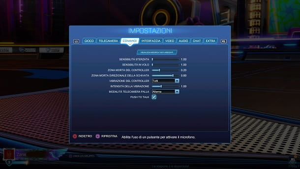 Push to talk Rocket League PS4