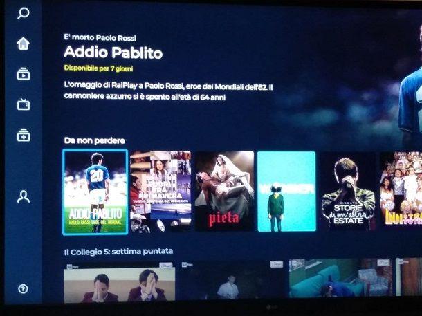 Come accedere a RaiPlay dallo Smart TV