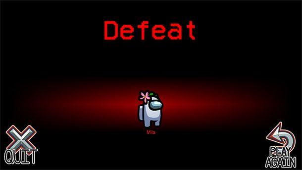 Among us, sconfitto