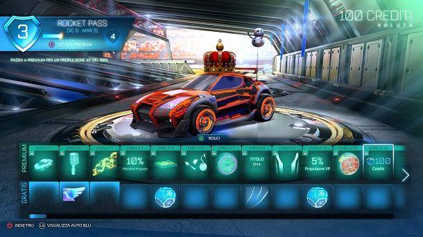 Rocket Pass Premium Rocket League crediti