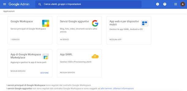 Servizi Google Workspace