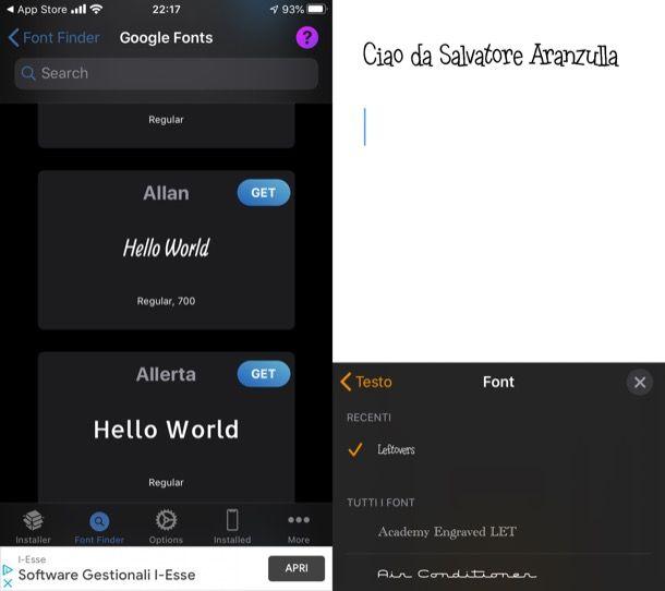 Come personalizzare iOS: font