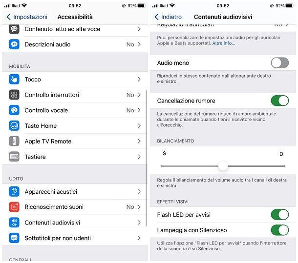 Come togliere il flash dalle notifiche iPhone