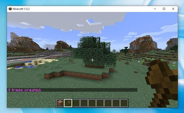 Creare alberi Minecraft WorldEdit