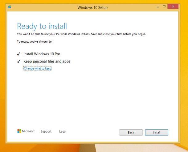 Come passare da Windows 8 a Windows 10 senza perdere dati