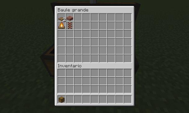 Materiali per barbecue su Minecraft