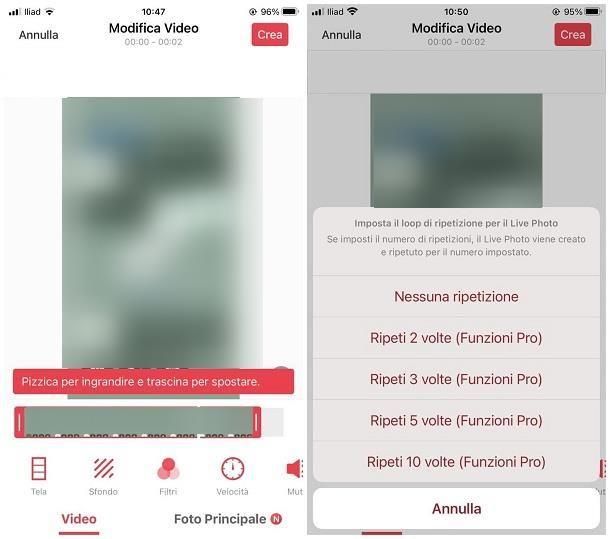 Come trasformare un video in una foto live: iPhone
