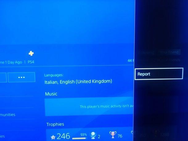 Procedere alla richiesta di ban di un utente PS4