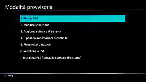Reinstallare il software di sistema PS4