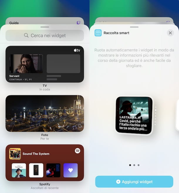 Altri widget su iPhone