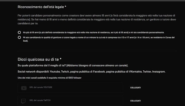 Supporta un Creatore Epic Games