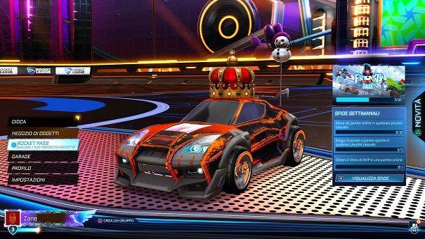 Rocket Pass menu Rocket League
