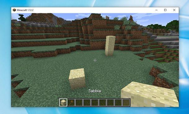 Blocchi di sabbia Minecraft