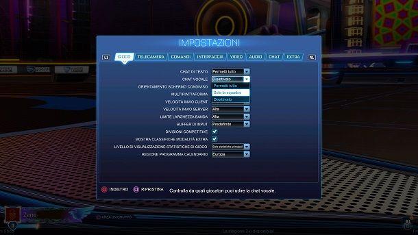 Come attivare la chat vocale su Rocket League PS4