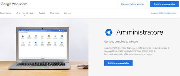 Accedere alla console di amministrazione di Google