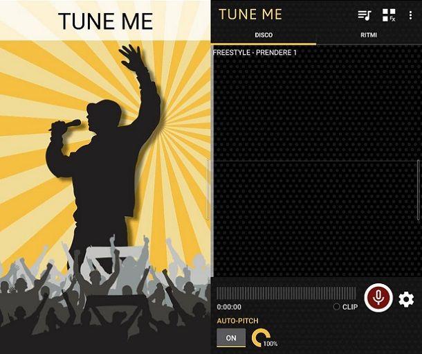 Tune Me registrare canzone