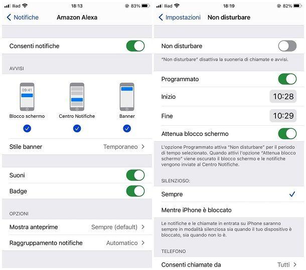 Come organizzare notifiche iOS
