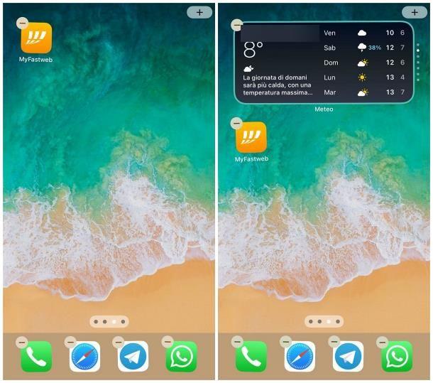 Come organizzare widget iOS