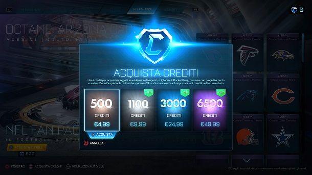 Come comprare crediti Rocket League