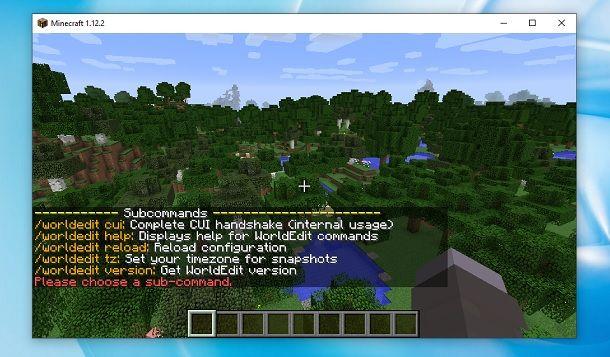 WorldEdit Benvenuto Minecraft
