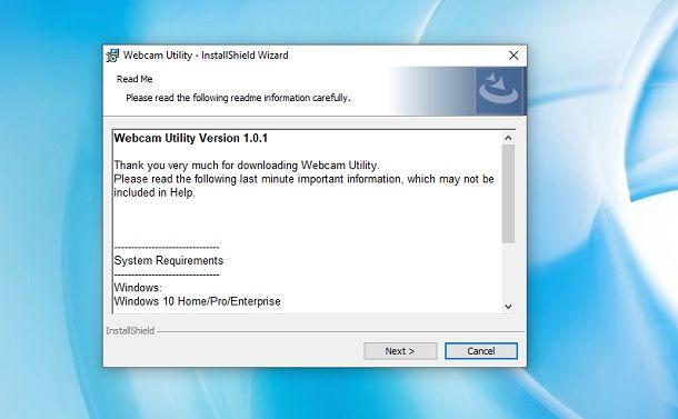 Webcam Utility Windows