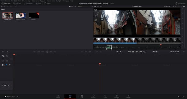 Importare i media in DaVinci Resolve