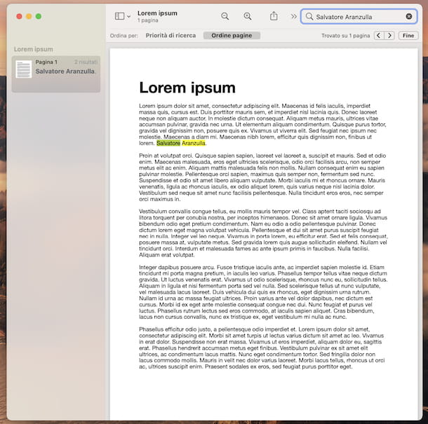 Anteprima PDF macOS