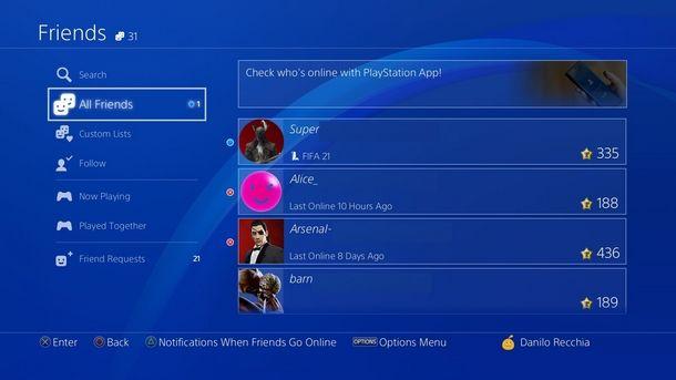 Espellere i giocatori dal Party privato di PS4
