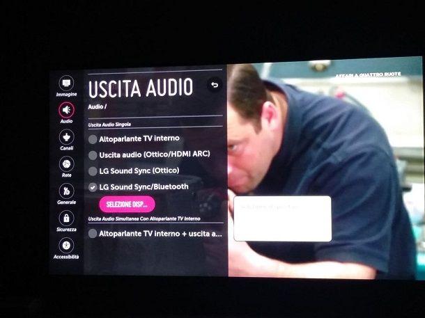 Come collegare una soundbar alla TV LG