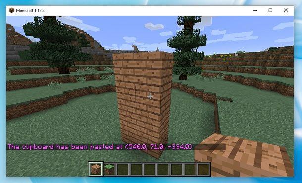 Copia e incolla WorldEdit Minecraft