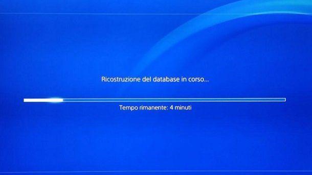 Ricostruzione del database PS4