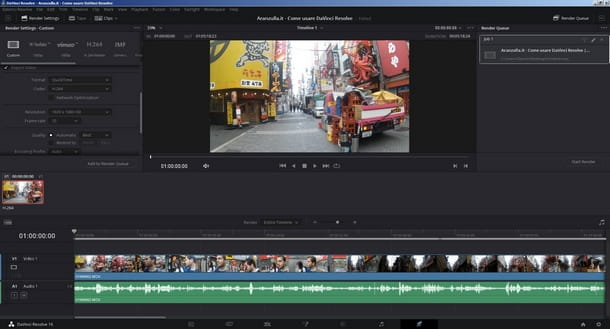 Esportare correttamente il video da DaVinci Resolve