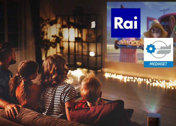 Videoproiettore con Rai Mediaset